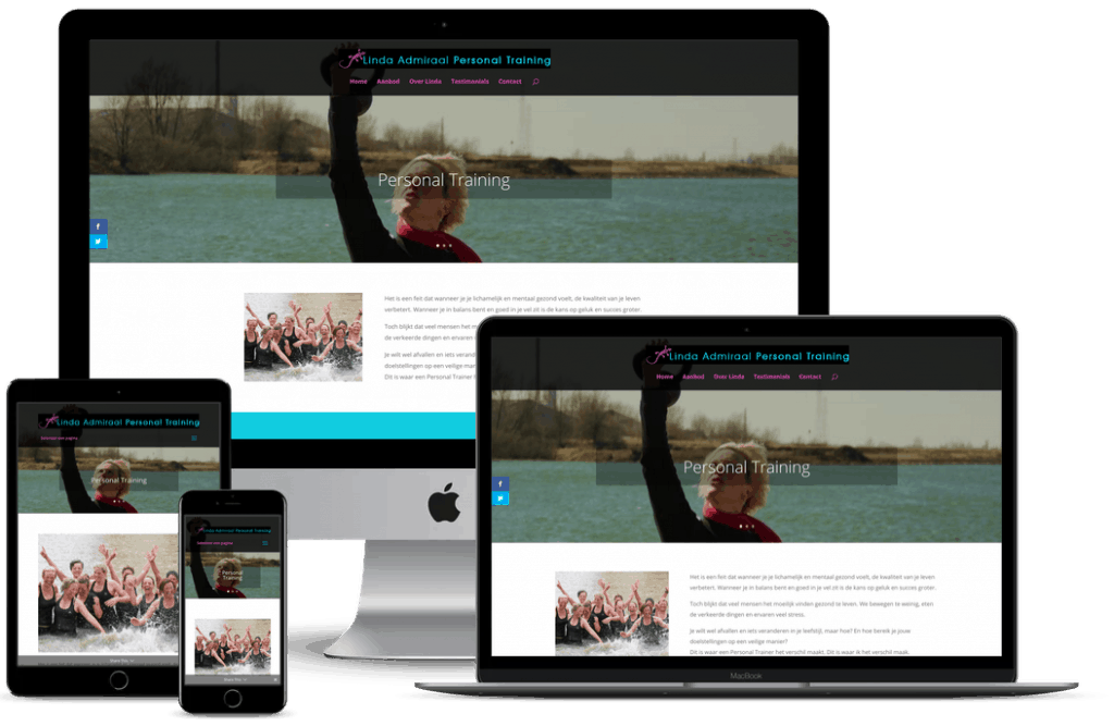 Nieuwe website personal trainer Wageningen