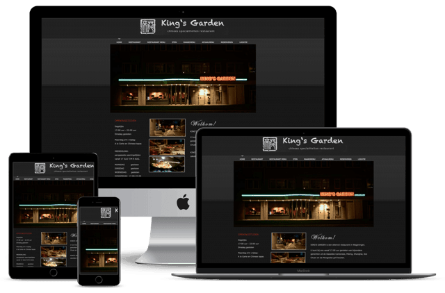 Oude website King's Garden Wageningen